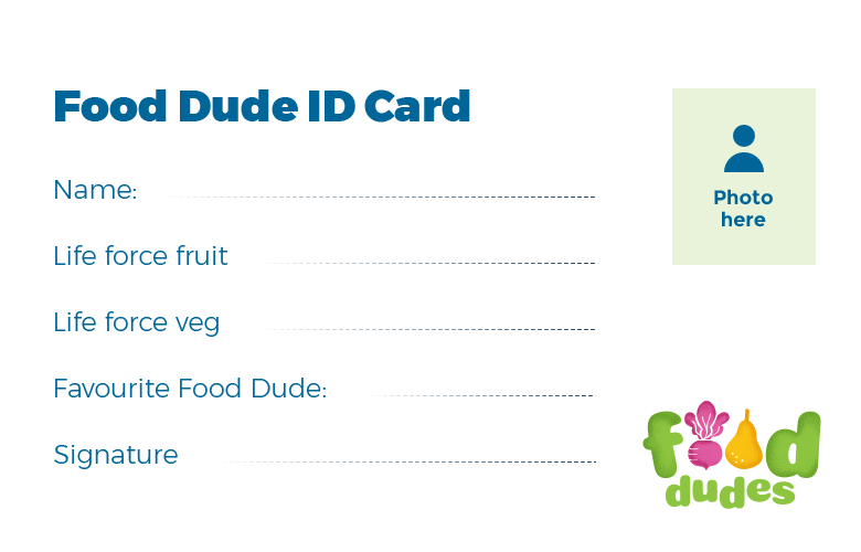 food dudes ID card